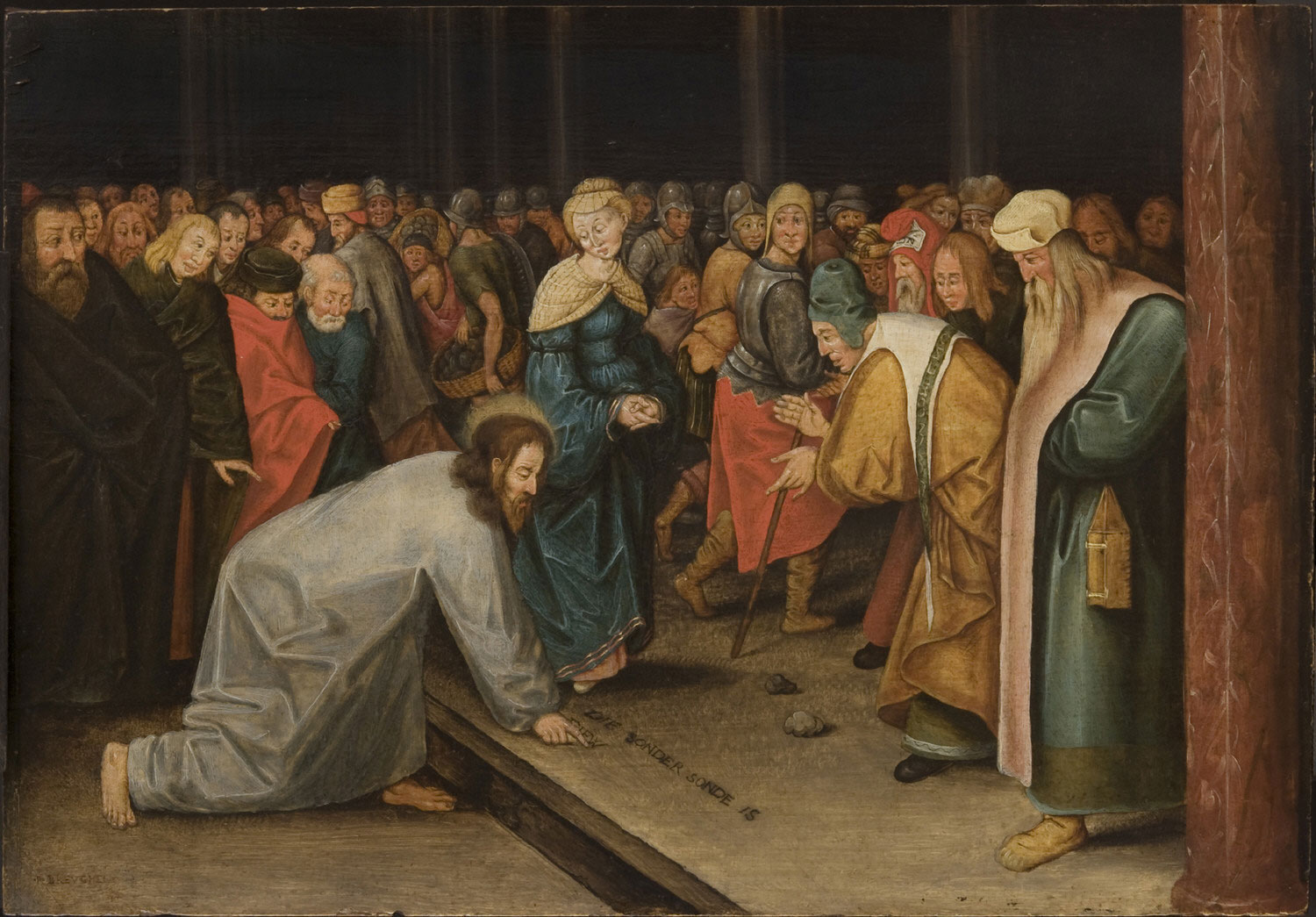 brueghel_ii2c_pieter_-_christ_and_the_woman_taken_in_adultery_1600