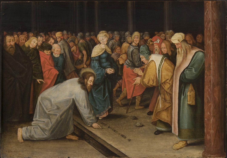 brueghel_ii2c_pieter_-_christ_and_the_woman_taken_in_adultery_1600